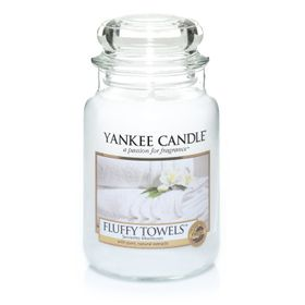 Yankee Candle Fluffy Towels, großes Glas