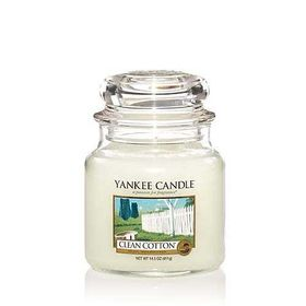 Yankee Candle Clean Cotton, mittleres Glas