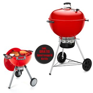 Weber Master-Touch GBS, 57cm Rot - Limited Edition Christmas Bundle inkl. Spielzeuggrill Kettle