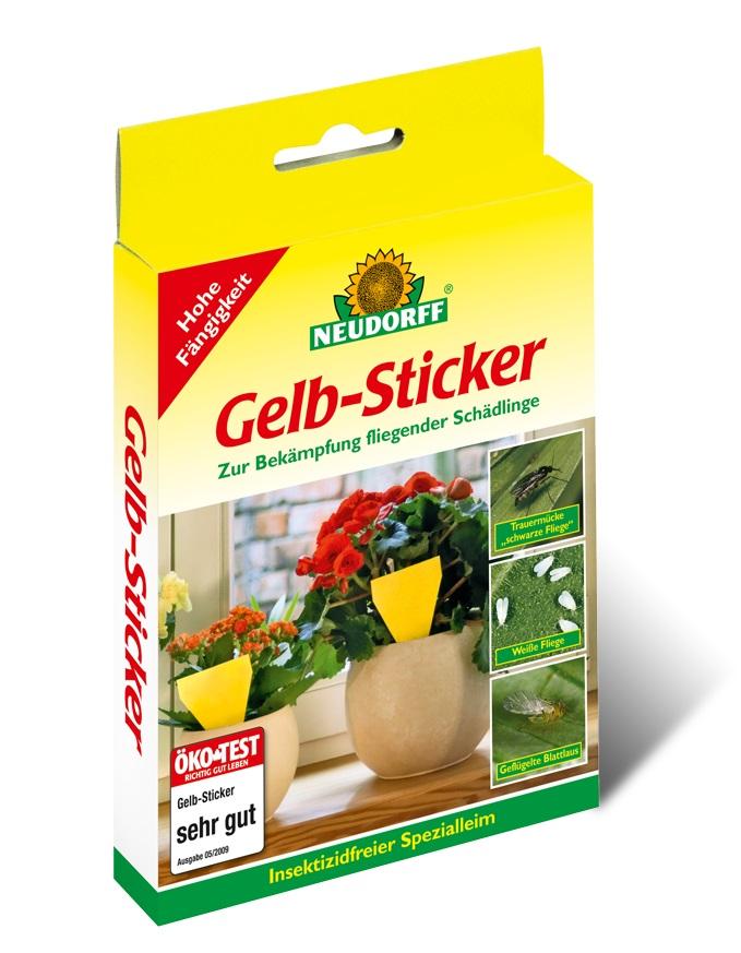 Neudorff gelb sticker 40 st ck vorteilspackung 4x10st ck for Blumenerde ohne fliegen
