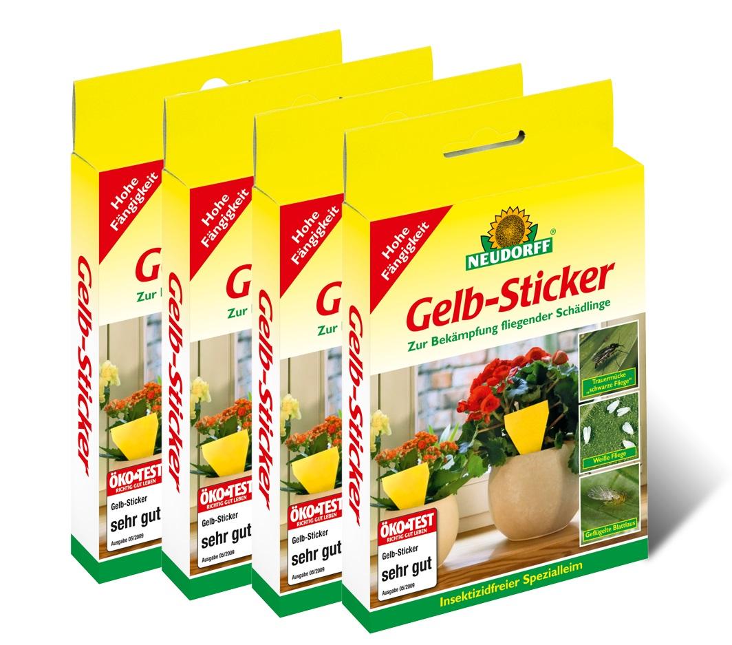 Neudorff gelb sticker 40 st ck vorteilspackung 4x10st ck for Gelbsticker neudorff
