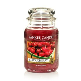 Yankee Candle Black Cherry, großes Glas