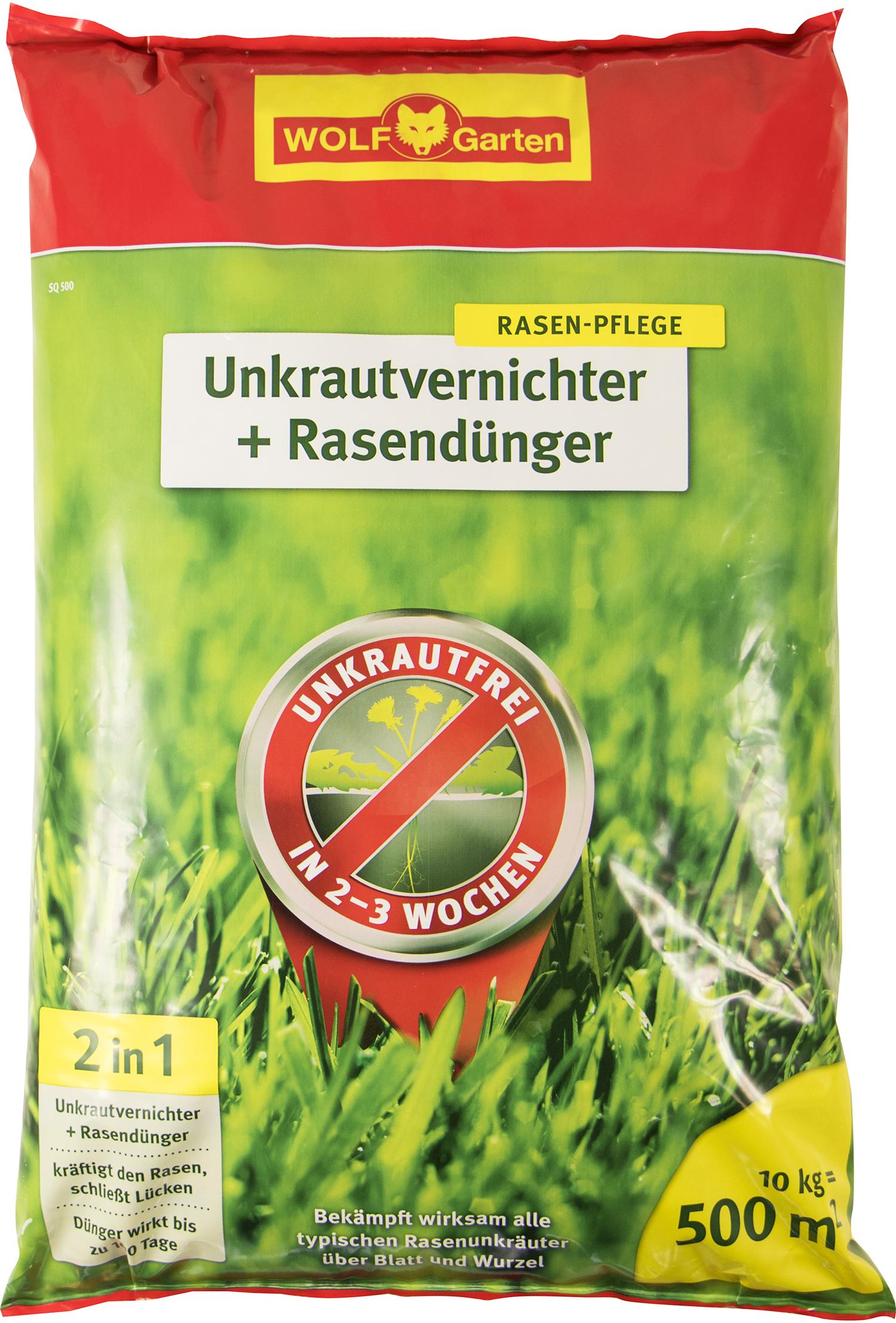 WOLF-Garten WE-B Universal-Streuer SQ 500 Unkrautvernichter plus Rasendünger